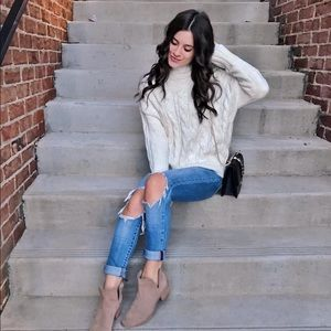Gold tinted knit sweater